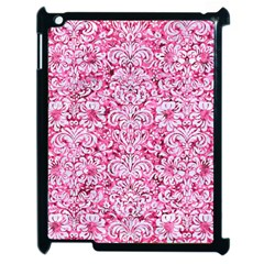 Damask2 White Marble & Pink Marble Apple Ipad 2 Case (black) by trendistuff