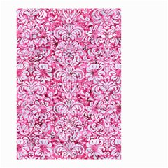 Damask2 White Marble & Pink Marble Small Garden Flag (two Sides) by trendistuff