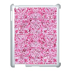 Damask2 White Marble & Pink Marble Apple Ipad 3/4 Case (white) by trendistuff