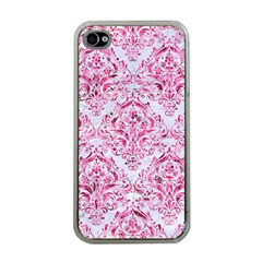 Damask1 White Marble & Pink Marble (r) Apple Iphone 4 Case (clear) by trendistuff