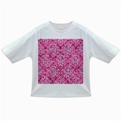 Damask1 White Marble & Pink Marble Infant/toddler T Shirts by trendistuff