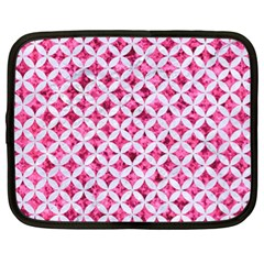 Circles3 White Marble & Pink Marble Netbook Case (xl)  by trendistuff