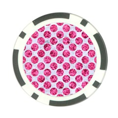 Circles2 White Marble & Pink Marble (r) Poker Chip Card Guard (10 Pack)
