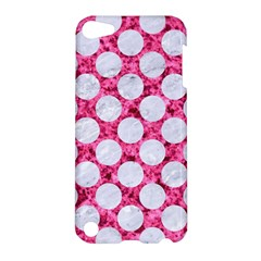 Circles2 White Marble & Pink Marble Apple Ipod Touch 5 Hardshell Case by trendistuff