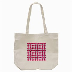 Circles1 White Marble & Pink Marble Tote Bag (cream) by trendistuff
