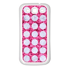 Circles1 White Marble & Pink Marble Samsung Galaxy S3 Back Case (white) by trendistuff
