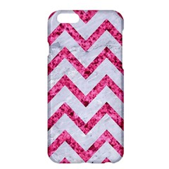 Chevron9 White Marble & Pink Marble (r) Apple Iphone 6 Plus/6s Plus Hardshell Case by trendistuff