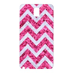 Chevron9 White Marble & Pink Marble Samsung Galaxy Note 3 N9005 Hardshell Back Case by trendistuff