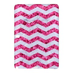 Chevron3 White Marble & Pink Marble Samsung Galaxy Tab Pro 10 1 Hardshell Case by trendistuff