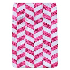 Chevron1 White Marble & Pink Marble Flap Covers (s)  by trendistuff