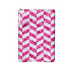 Chevron1 White Marble & Pink Marble Ipad Mini 2 Hardshell Cases by trendistuff