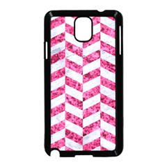 Chevron1 White Marble & Pink Marble Samsung Galaxy Note 3 Neo Hardshell Case (black) by trendistuff