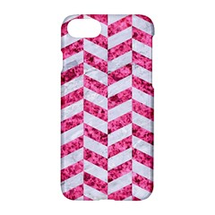 Chevron1 White Marble & Pink Marble Apple Iphone 8 Hardshell Case