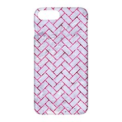 Brick2 White Marble & Pink Marble (r) Apple Iphone 7 Plus Hardshell Case by trendistuff