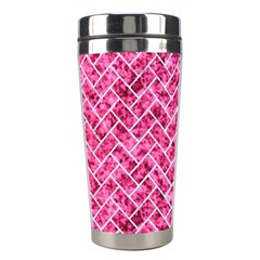 Brick2 White Marble & Pink Marble Stainless Steel Travel Tumblers by trendistuff