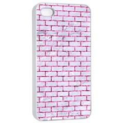 Brick1 White Marble & Pink Marble (r) Apple Iphone 4/4s Seamless Case (white) by trendistuff