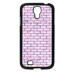 Brick1 White Marble & Pink Marble (r) Samsung Galaxy S4 I9500/ I9505 Case (black) by trendistuff