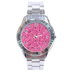 Brick1 White Marble & Pink Marble Stainless Steel Analogue Watch by trendistuff