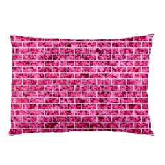 Brick1 White Marble & Pink Marble Pillow Case (two Sides)