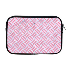 Woven2 White Marble & Pink Watercolor (r) Apple Macbook Pro 17  Zipper Case