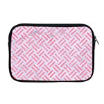 WOVEN2 WHITE MARBLE & PINK WATERCOLOR (R) Apple MacBook Pro 17  Zipper Case Front
