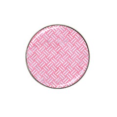 Woven2 White Marble & Pink Watercolor Hat Clip Ball Marker by trendistuff
