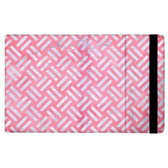 Woven2 White Marble & Pink Watercolor Apple Ipad 2 Flip Case by trendistuff