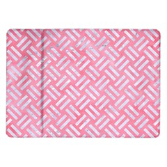 Woven2 White Marble & Pink Watercolor Samsung Galaxy Tab 10 1  P7500 Flip Case by trendistuff