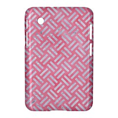 Woven2 White Marble & Pink Watercolor Samsung Galaxy Tab 2 (7 ) P3100 Hardshell Case  by trendistuff