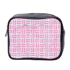 Woven1 White Marble & Pink Watercolor (r) Mini Toiletries Bag 2 Side by trendistuff
