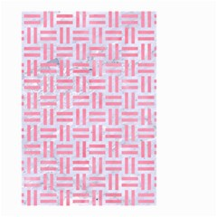 Woven1 White Marble & Pink Watercolor (r) Small Garden Flag (two Sides) by trendistuff