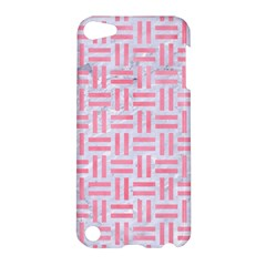 Woven1 White Marble & Pink Watercolor (r) Apple Ipod Touch 5 Hardshell Case by trendistuff