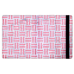 Woven1 White Marble & Pink Watercolor (r) Apple Ipad 2 Flip Case by trendistuff