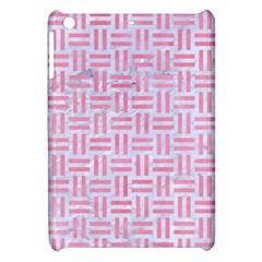 Woven1 White Marble & Pink Watercolor (r) Apple Ipad Mini Hardshell Case by trendistuff