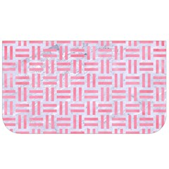 Woven1 White Marble & Pink Watercolor (r) Lunch Bag