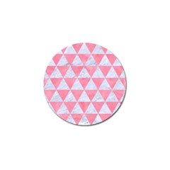 Triangle3 White Marble & Pink Watercolor Golf Ball Marker (10 Pack) by trendistuff
