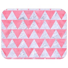 Triangle2 White Marble & Pink Watercolor Full Print Lunch Bag by trendistuff