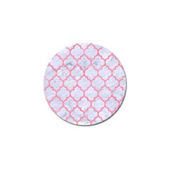Tile1 White Marble & Pink Watercolor (r) Golf Ball Marker (4 Pack) by trendistuff
