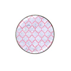 Tile1 White Marble & Pink Watercolor (r) Hat Clip Ball Marker by trendistuff