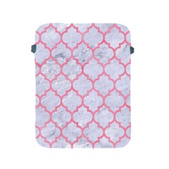 Tile1 White Marble & Pink Watercolor (r) Apple Ipad 2/3/4 Protective Soft Cases by trendistuff