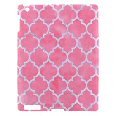 Tile1 White Marble & Pink Watercolor Apple Ipad 3/4 Hardshell Case by trendistuff