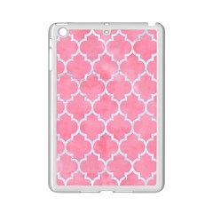 Tile1 White Marble & Pink Watercolor Ipad Mini 2 Enamel Coated Cases by trendistuff