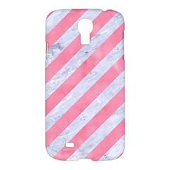 Stripes3 White Marble & Pink Watercolor (r) Samsung Galaxy S4 I9500/i9505 Hardshell Case by trendistuff