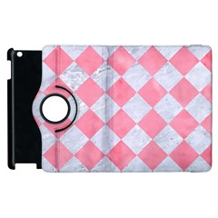 Square2 White Marble & Pink Watercolor Apple Ipad 2 Flip 360 Case by trendistuff