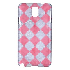 Square2 White Marble & Pink Watercolor Samsung Galaxy Note 3 N9005 Hardshell Case by trendistuff