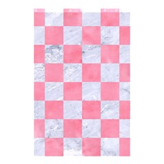 Square1 White Marble & Pink Watercolor Shower Curtain 48  X 72  (small)  by trendistuff