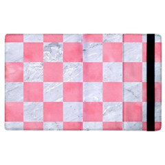 Square1 White Marble & Pink Watercolor Apple Ipad 2 Flip Case by trendistuff