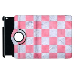 Square1 White Marble & Pink Watercolor Apple Ipad 3/4 Flip 360 Case by trendistuff