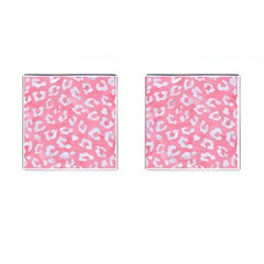 Skin5 White Marble & Pink Watercolor (r) Cufflinks (square) by trendistuff