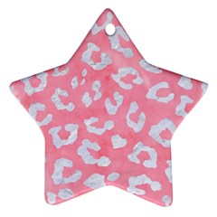 Skin5 White Marble & Pink Watercolor (r) Star Ornament (two Sides) by trendistuff
